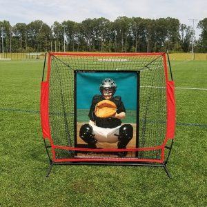 5' x 5' Portable Frame, Net, BP Catcher Pitching Target.