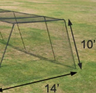Trapezoid Batting Cage Net
