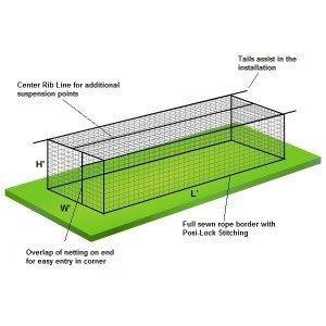 #62 Pro Batting Cage Net