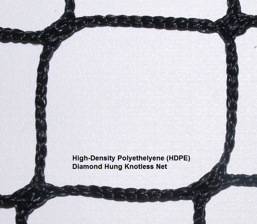 Knotless HDPE Net