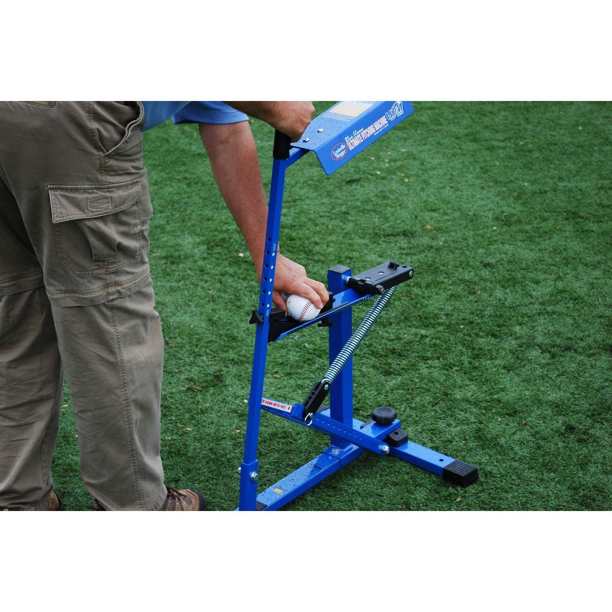 blue pitching machine