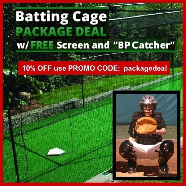 batting cage and pitching machine packages