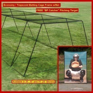 Backyard Batting Cage Frame HDPE Net - Backyard batting cages for sale