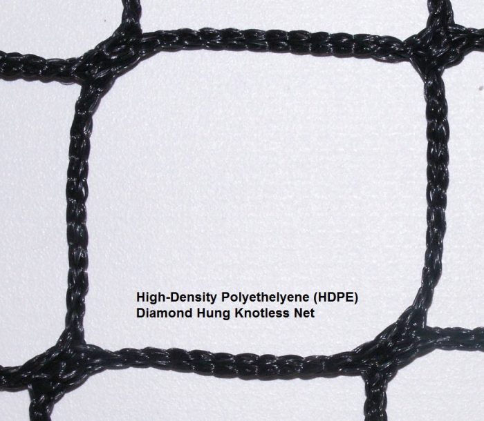 HDPE Diamond Hung Knotless Net