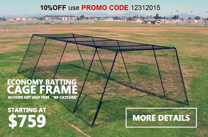 Economy Batting Cage Frame W/Net