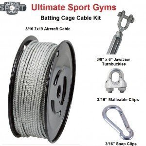 Batting Cage Cable Kit