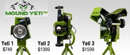 Mound Yeti Pitching Machines