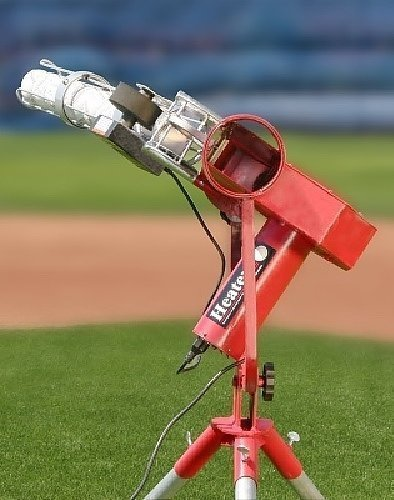 Heater Pro Real Curveball Machine with Auto Ball Feeder