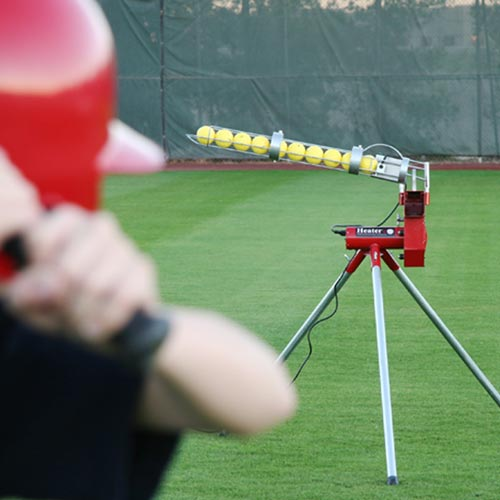 Heater Real Baseball Machine With Auto-Ball Feeder